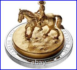 10 oz. Pure Silver Gold-Plated Sculpture Coin The RCMP Musical Ride