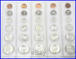 10x 1867-1967 Canada Silver Coin Sets complete with 1 & 5 Cent coins in holders