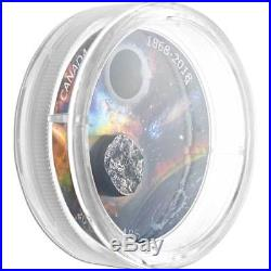 150th Anniversary of the RAS of Canada 2018 $20 1oz Silver Proof Meteorite Coin