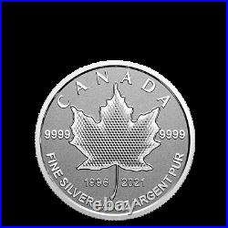 15 $ Dollar 5 Coin Silver Maple Leaf Fractional Set Pulsating Canada 2021