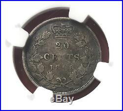 1858 20 Cents Canada Silver Twenty Cents Coin NGC VF-35 First Year! @