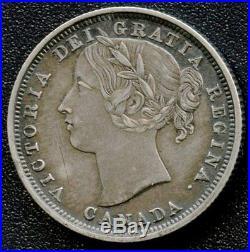 1858 Canada 20 Cent Coin (4.65 Grams. 925 Silver)