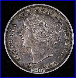 1858 Canada 20 Cent Silver Coin Very Fine++ #fc1007