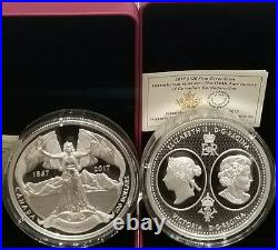 1867-2017 $100 10OZ Silver Coin Canada Confederation Medal 150th Confederation