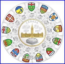 1867-2017 Puzzle Coin Canada 150 Confederation $310 1/2-Kilo Pure Silver Coin