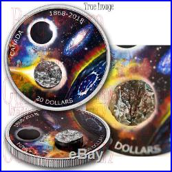 1868-2018 150th Anniversary of RAS of Canada $20 Pure Silver Coin with Meteorite