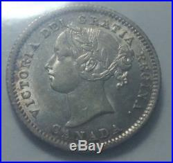 1870 Canada Silver 10 Cents Coin ICCS AU-55