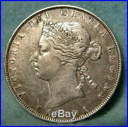 1870 Canada Silver 50 Fifty Cents EF Canadian Coin