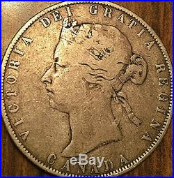 1871H CANADA SILVER 50 CENTS FIFTY CENTS COIN A decent example