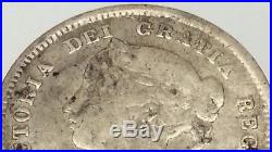 1884 Canada Small Five 5 Cents 925 Sterling Silver Canadian Circulated Coin B687