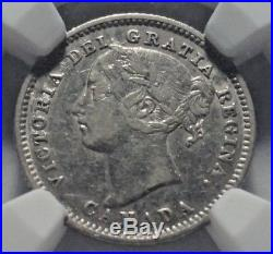 1885 Canada Silver 10 Cents Coin NGC XF Details KEY DATE