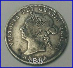 1886/7 LBE Canada Silver 25 Cents Coin RARE OVERDATE