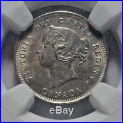1888 Canada Silver 5 Cents Coin NGC MS-63