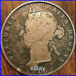 1890H CANADA SILVER 50 CENTS COIN Very rare top keydate coin