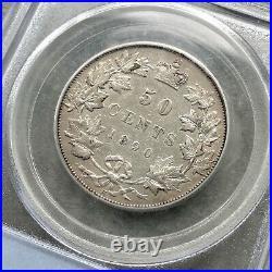 1890 H Canada Silver Half Dollar 50 Cent Coin PCGS XF-45