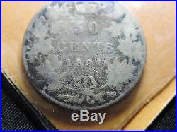 1894 H4 50 Cent Coin Canada Victoria Fifty Cents. 925 Silver G Grade Key Date