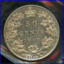 1900 Canada 50 Cents Silver Coin ICCS AU-55