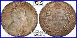 1903-H Canada Silver 50 Cents Coin PCGS AU-53 RARE