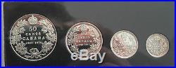 1908-1998 CANADA 1/2 SILVER DOLLAR 90th ANNIVERSARY SET PROOF 5 COINS COA BOX