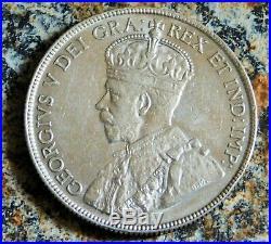 1919 Canada Silver 50 Cents Coin Half Dollar Ef Au Details