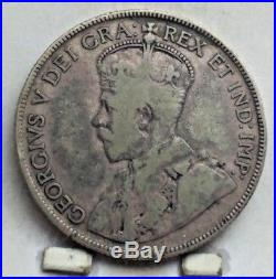 1932 Canada Silver 50 Cents Coin V F KEY DATE