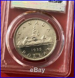 1935 Canada 1 Dollar Silver Coin One Dollar Specimen PCGS SP-63 Rare