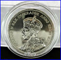 1935 Canada George V, Golden Jubilee $1 One Dollar 80% Silver Coin Free Shipping