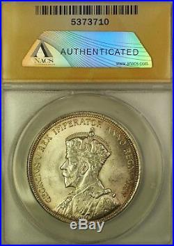 1935 Canada Silver $1 Dollar Coin King George V ANACS MS-63