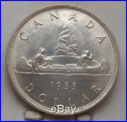 1935 Canada Silver Dollar Coin GEM UNC