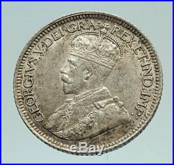 1936 CANADA Original Antique Silver 10 Cents Coin under King GEORGE V i76971