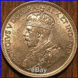 1936 CANADA SILVER 25 CENTS COIN SILVER QUARTER Dot variety Uncirculated