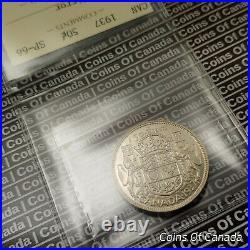 1937 Canada 50 Cents Silver Coin ICCS SP-66 Mirror Specimen! #coinsofcanada