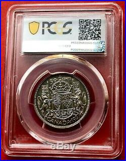 1937 Canada Silver Half Dollar 50 Cent Coin PCGS Mirror Specimen SP-65