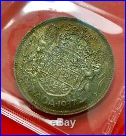 1937 Matte Specimen Canada Silver Half Dollar 50 Cent Coin ICCS Gem 66
