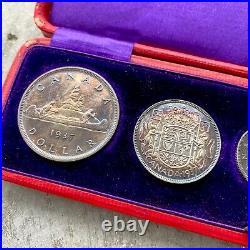 1937 Specimen Set Canada Silver coin Scarce Mirror Variety in original Box