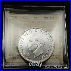 1947 Canada $1 Silver Dollar ICCS MS-63 Maple Leaf ML Coin #coinsofcanada