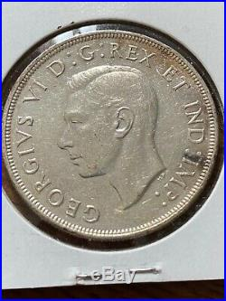 1947 Canada Silver Dollar Blunt-7 Nice Coin