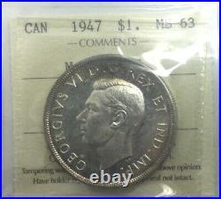 1947 ML Silver Dollar ICCS MS63 Nice Sharp Coin Pleasing Look Toned XHK783