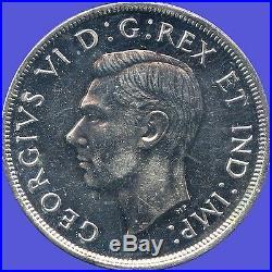 1947 Maple Leaf Silver Dollar Coin (23.33 Grams. 800 Silver)