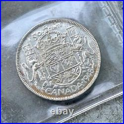 1948 Canada 50 Cent Silver Coin Half Dollar ICCS Choice Unc 64 Old Holder