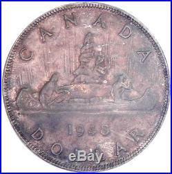 1948 Canada Silver Dollar Coin ANACS MS-62 KEY DATE