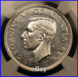 1948 Canada Silver Dollar MS-62 NGC. Scarce Key Date Coin. Blast White