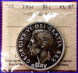 1952 NWL Canada 1 Dollar Silver Coin One Dollar #EC626 ICCS PL-65 Old holder