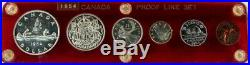 1954 Canada Silver Proof-like 6 Coin Mint Set In Capital Holder