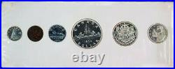 1954 Canada Silver Proof-like 6 Coin Original Mint Set Cellophane