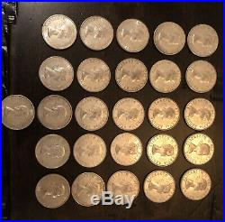 1959 Canada Silver 50 cents Half Dollar Lot Of 26 Coins