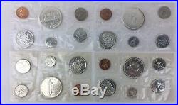 1963 1964 1965 1966 Canada Sealed Proof Like Mint Set 6 Coins Total 16 Silver80%