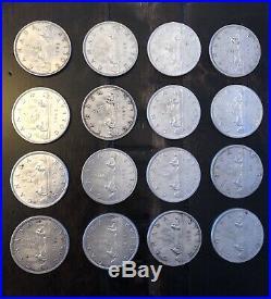 1963 Canada Silver Dollar $1 Coin Collection Lot Of 16 Coins