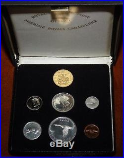 1967 Royal Canadian Mint Specimen 7 SILVER Coin Set incl. Box & 2017 $20