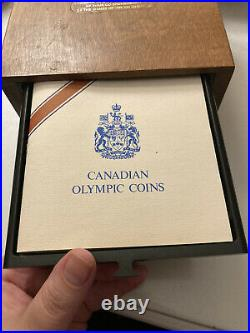 1976 Canada 28 Coin Sterling Silver Olympic Set XXI Olympiad Montreal